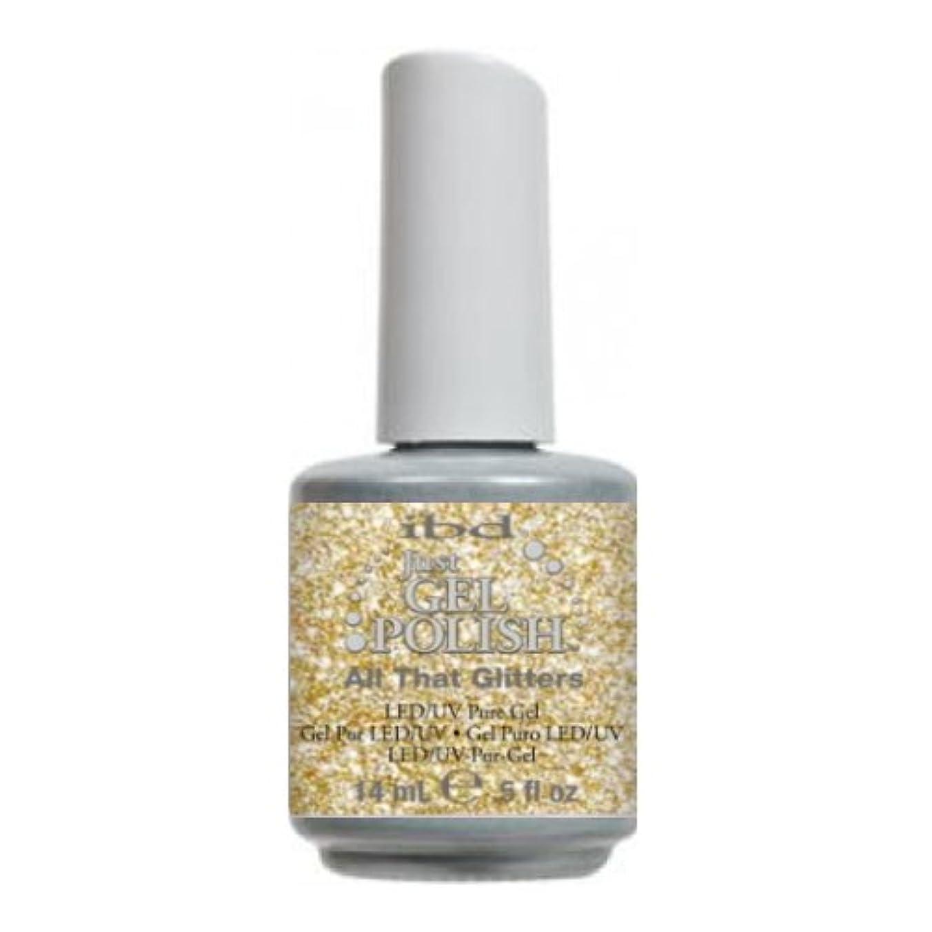 お金ゴム座る劇的(6 Pack) ibd Just Gel Polish - All That Glitters (並行輸入品)