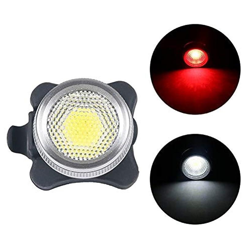 式病ご覧くださいZANサイクリング照明部品 HBNM COBランプビーズ160LMのUSB充電4速防水自転車ヘッドライト/テールライト、レッド+ホワイトライト調光は650mA