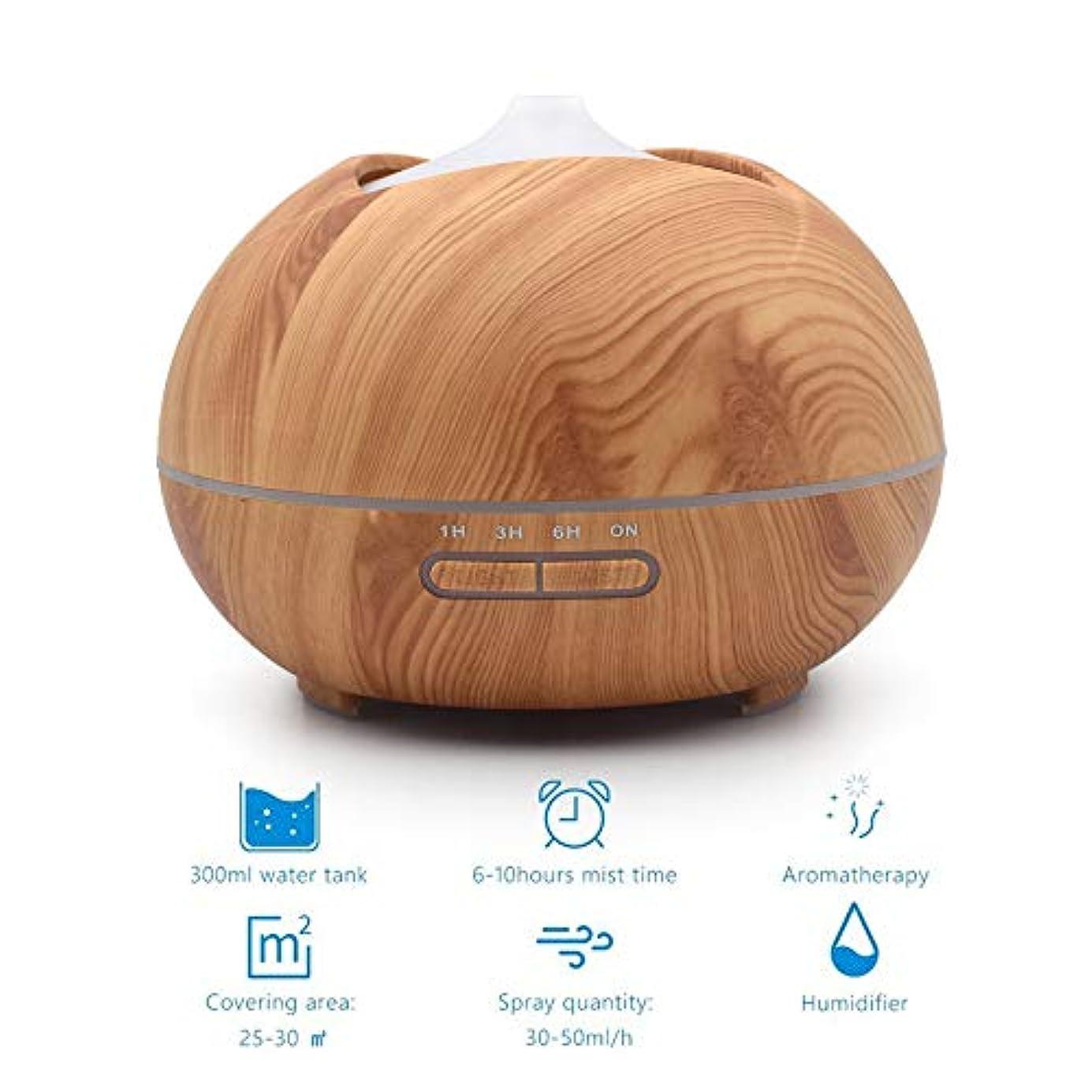 木目クールミスト加湿器、500ミリリットルアロマセラピーディフューザー付き2ミストモードささやき静かな加湿器用寝室、ホーム、オフィス,lightwoodgrain