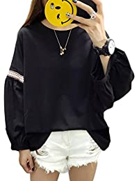 BSCOOL長袖 カットソー レディース ゆったり 秋 トップス 韓国ファッション 長袖tシャツ 無地 カジュアル レディース 秋物