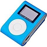 Mirror Portable MP3 Player Mini Clip Waterproof Sport Music Player (Blue)