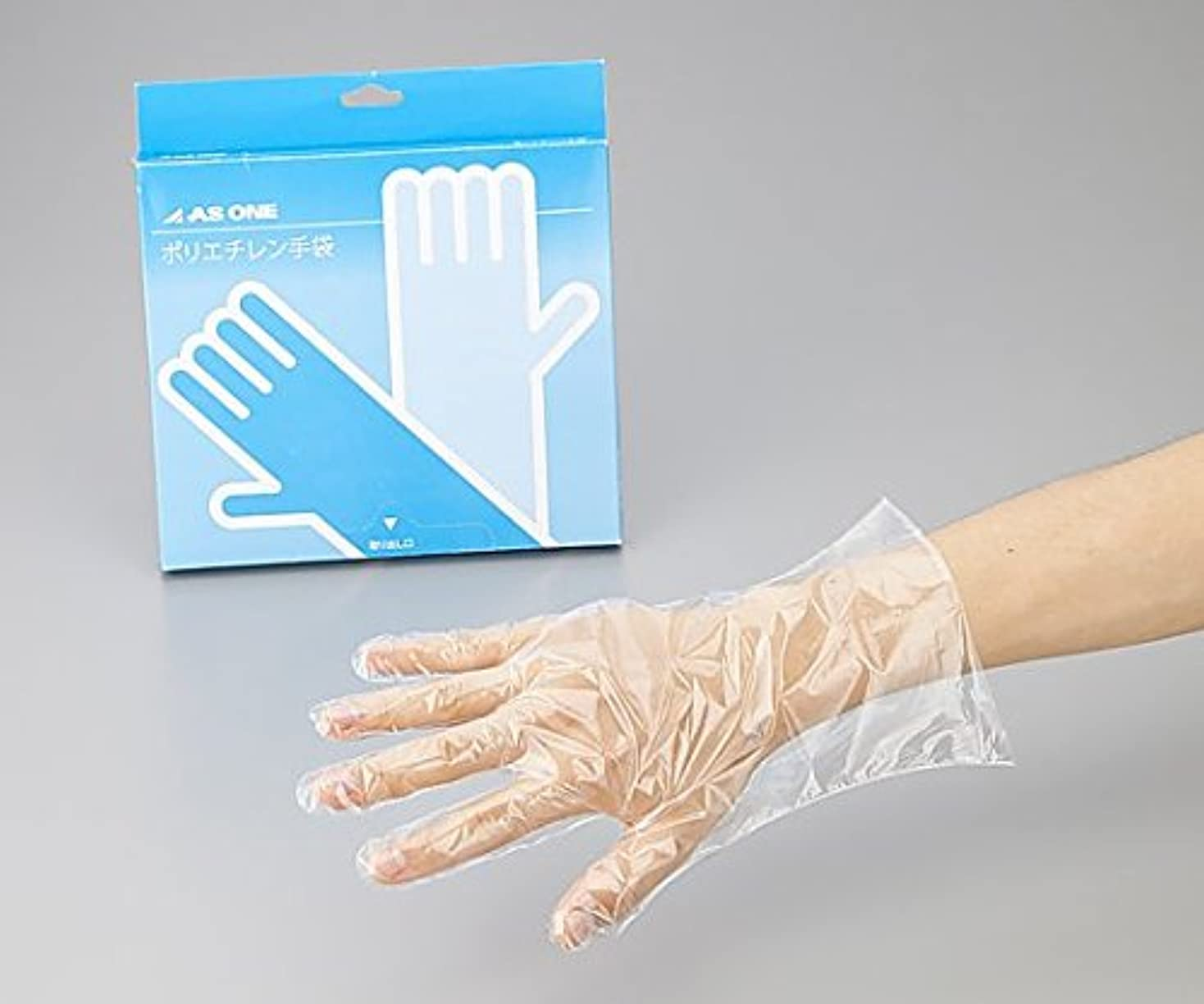ガード正しい形アズワン2-4974-02ポリエチレン手袋ヘビー厚手M100枚入