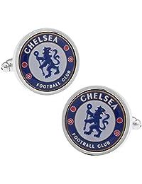 - Chelsea Football Club Cufflinks - Men's French Cuff-Link for Wedding, Formal, Birthday, Graduation, Christmas, Father Day, Groom, Best Man, business attire shirt + Free Deluxe Cufflinks Gift Box