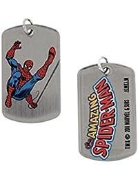 Marvel Comics Swinginスパイダーマン両面犬タグペンダントネックレス4014
