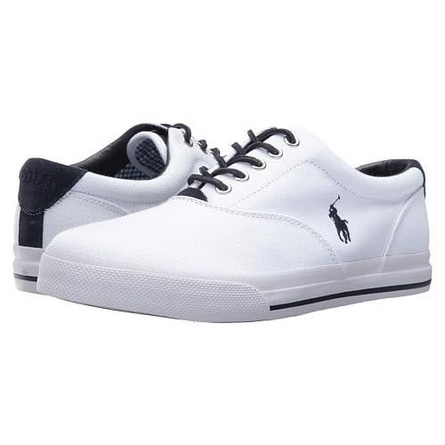 (ポロラルフローレン) Polo Ralph Lauren メンズカジュアルシューズ・スニーカー・靴 Vaughn Pure White 8.5 27cm M [並行輸入品]