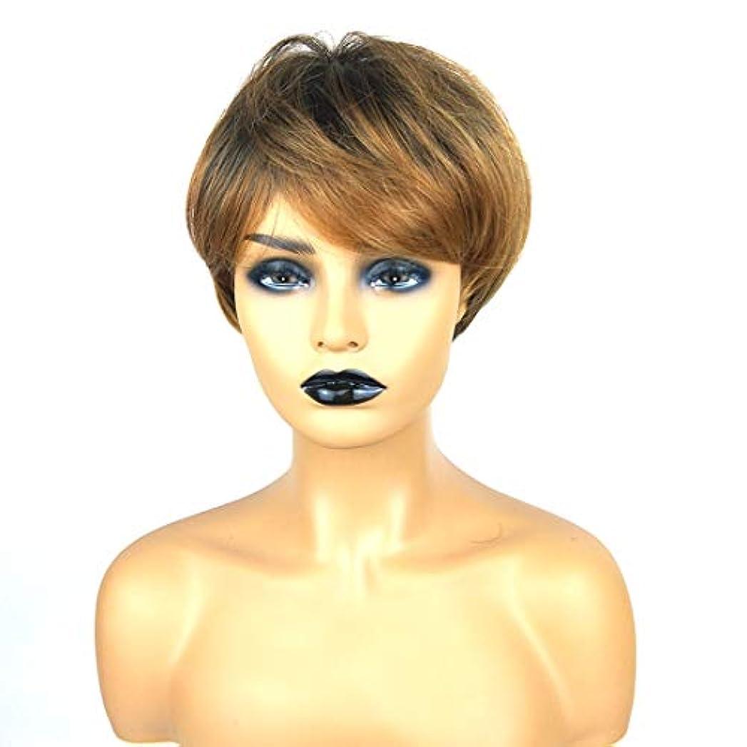 センター環境頭Kerwinner ショートボブの髪の毛のかつら本物の髪として自然な女性のための合成かつらとストレートウィッグ