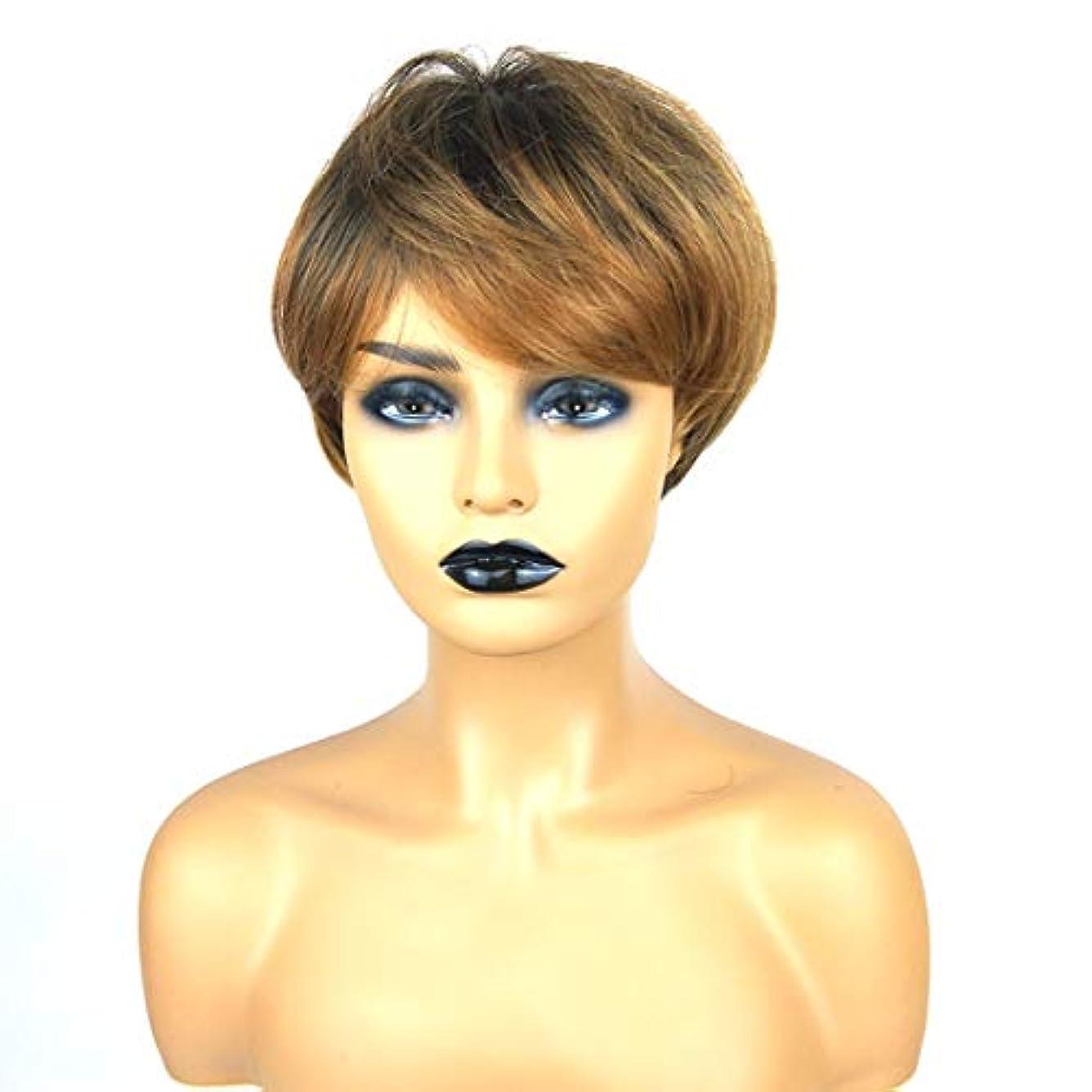換気するセットする製造Summerys ショートボブの髪の毛のかつら本物の髪として自然な女性のための合成かつらとストレートウィッグ