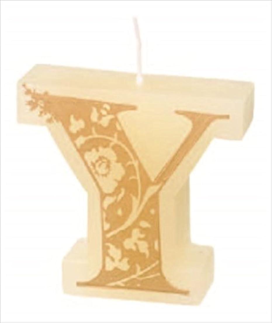 木製怒って城カメヤマキャンドル(kameyama candle) イニシャルキャンドルミニ 「 Y 」