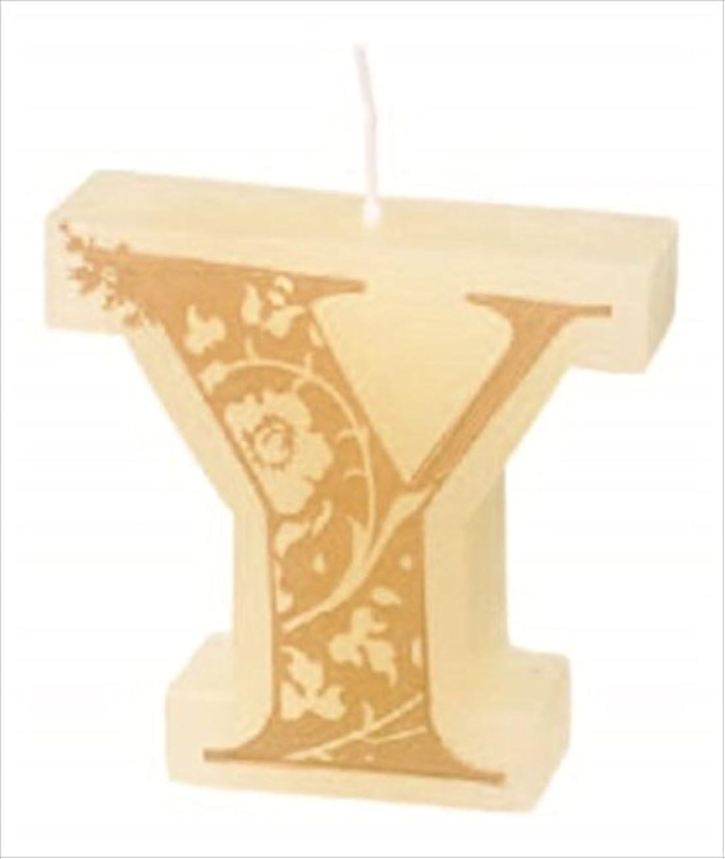 クラシカル高潔なゴミ箱カメヤマキャンドル(kameyama candle) イニシャルキャンドルミニ 「 Y 」
