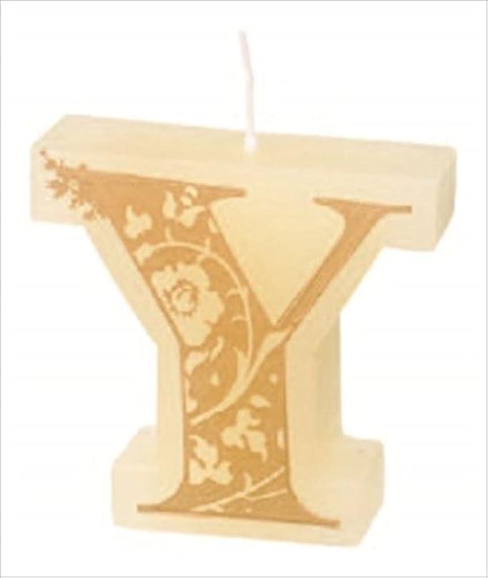 円形アリス誤解を招くカメヤマキャンドル(kameyama candle) イニシャルキャンドルミニ 「 Y 」