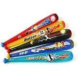 【ビニール玩具】 ベースボールバットS (5種アソート25個入り)  / お楽しみグッズ(紙風船)付きセット