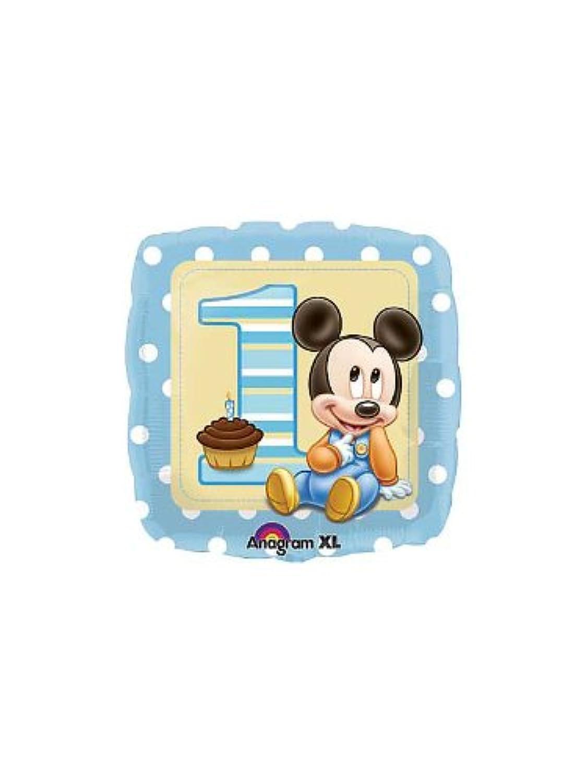 1歳誕生日の風船 ミッキーファーストバースデー