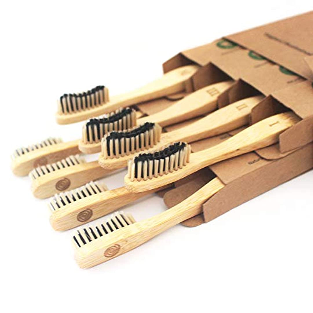 コールクランプ疼痛Bamboo Toothbrush Charcoal Infused Bristles - BPA Free Soft Bristle, Organic Vegan tooth brush, Biodegradable...