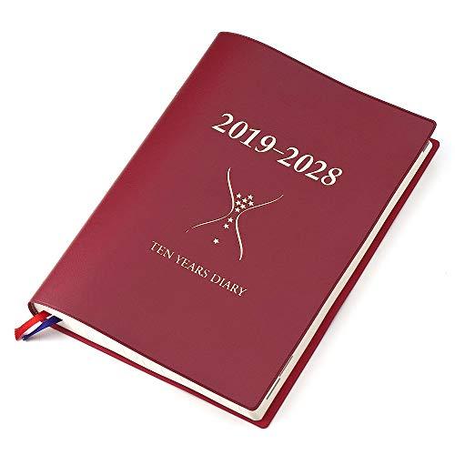 多年用手帳 石原10年日記 ワインレッド (2019-2028年)