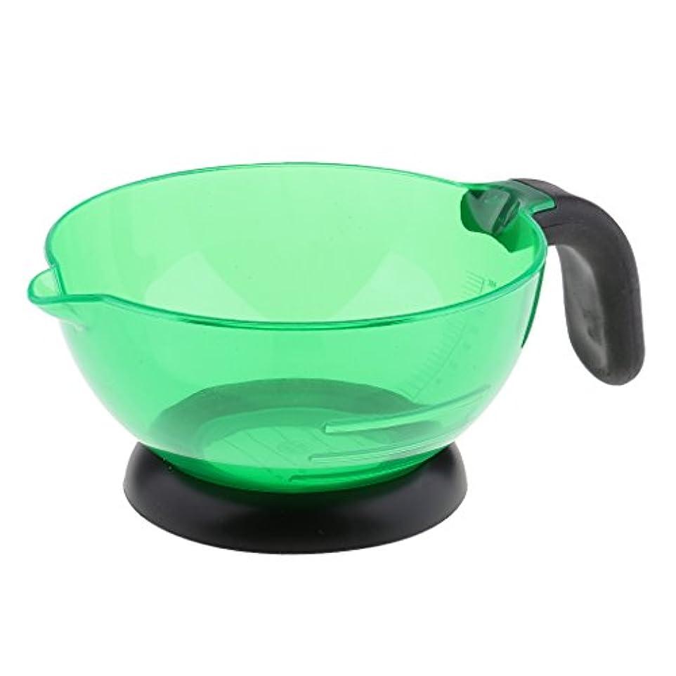 生き返らせる後気絶させるToygogo 大きいシリコーンの美容院のヘアカラーの染料の色合いの着色の染まる混合の漂白のボウル - 緑