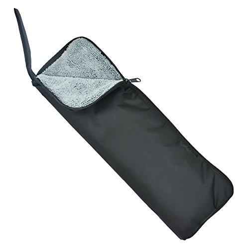 Flinelife 超吸水 マイクロファイバー 傘カバー ロング 38cm ブラック×グレー