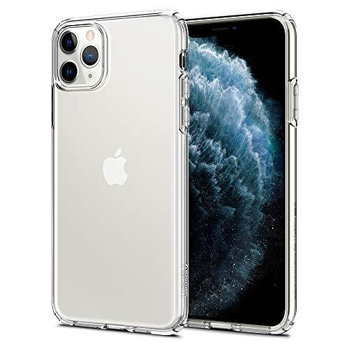 【Spigen】 スマホケース iPhone 11 Pro Max ケース 6.5インチ 対応 TPU 傷防止 レンズ保護 超薄型 超軽量 Qi充電 ワイヤレス充電 クリア リキッド・クリスタル 075CS27129 (クリスタル ・クリア)