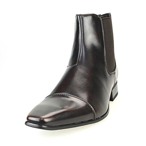 [エムエムワン] ビジネスシューズ ブーツ メンズ サイドゴ...