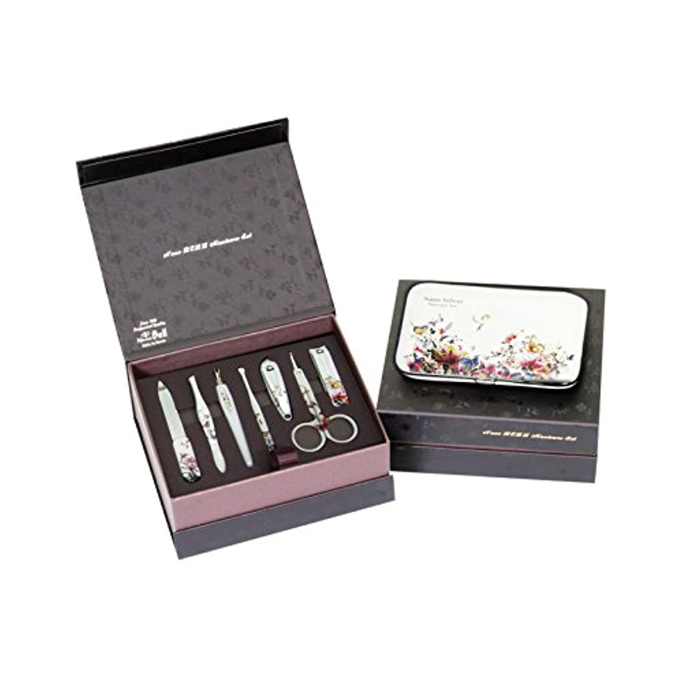何十人も強います薄暗いMETAL BELL Manicure Sets BN-8177B ポータブル爪の管理セット爪切りセット 高品質のネイルケアセット高級感のある東洋画のデザイン Portable Nail Clippers Nail Care...