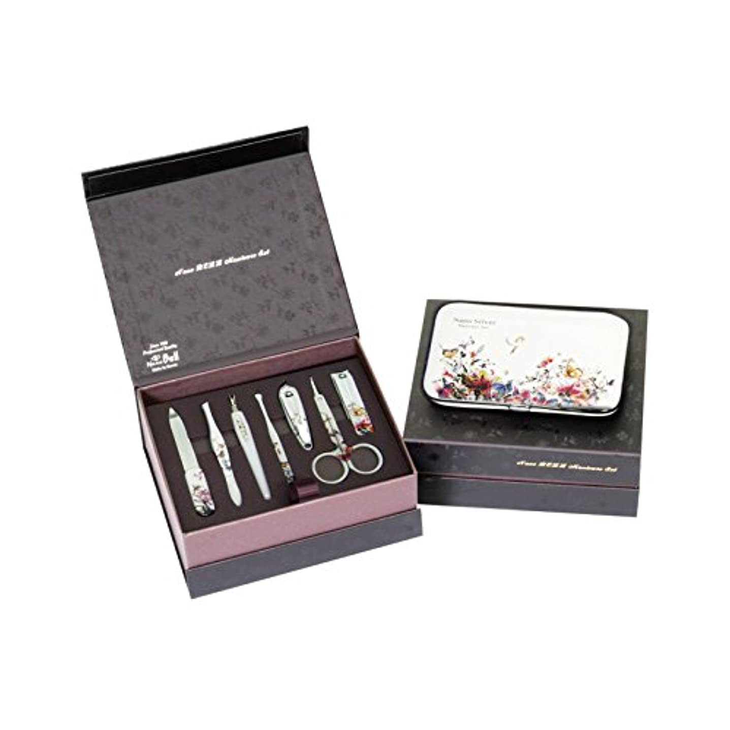 METAL BELL Manicure Sets BN-8177B ポータブル爪の管理セット爪切りセット 高品質のネイルケアセット高級感のある東洋画のデザイン Portable Nail Clippers Nail Care...