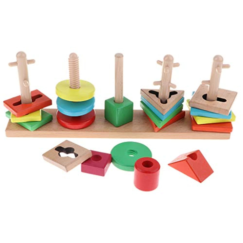 B Blesiya はめこみ 形合わせ 型はめ 木製 パズル 立体パズル 幼児 数学玩具 知育玩具