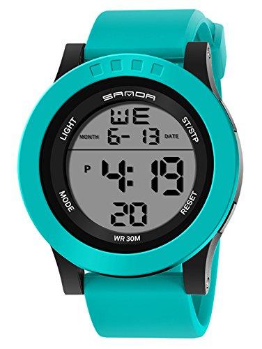 fba5894194 子供用デジタル腕時計 アラーム 防水 スポーツウオッチ キッズ 男の子 ledバックライト ストップウオッチ カレンダー腕時計
