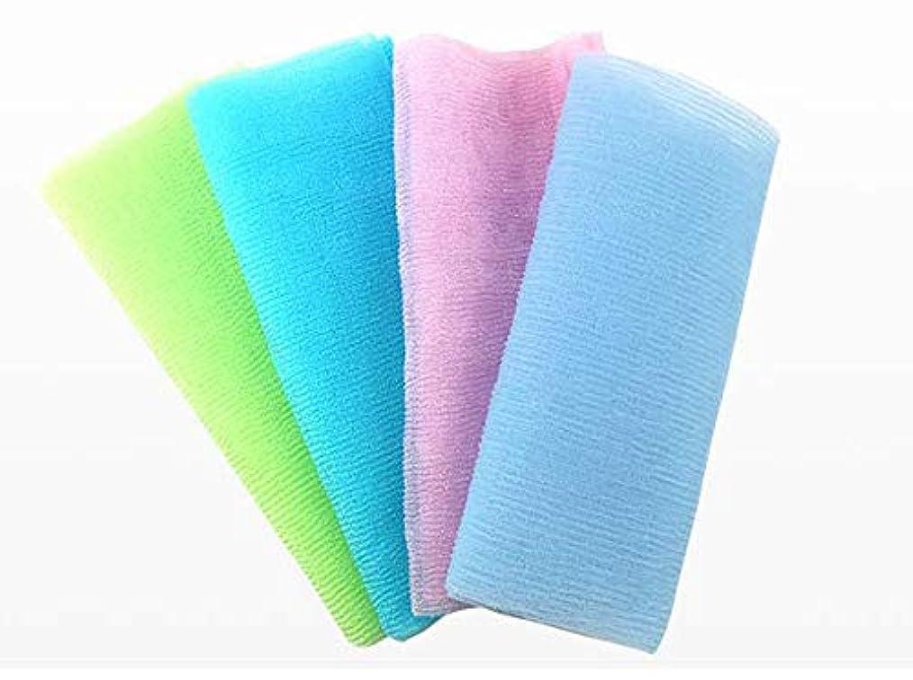 有用冷ややかな期間ボディタオル ロングボディブラシ やわらか 濃密泡 背中 お風呂用 メンズ カラー(ランダム)
