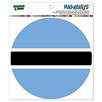 ボツワナナショナルカントリー旗 - サークル MAG-格好いい'S(TM)カー/冷蔵庫マグネット