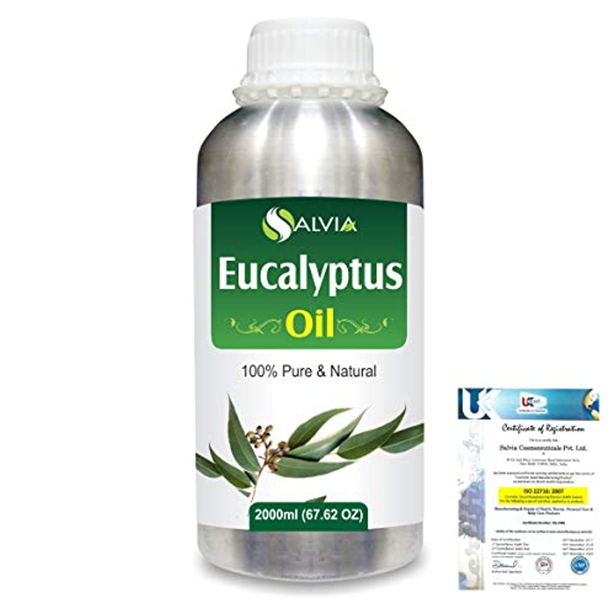 使用法チケットEucalyptus (Eucalyptus Globulus) 100% Natural Pure Essential Oil 2000ml/67 fl.oz.
