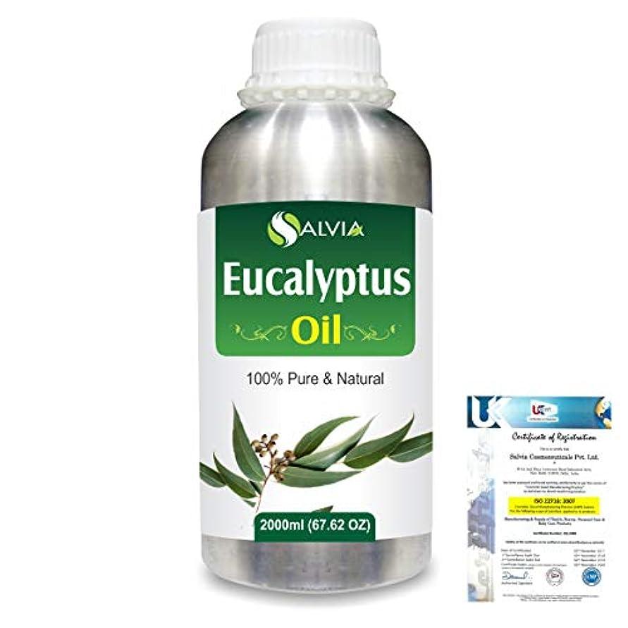 雑草雰囲気支配的Eucalyptus (Eucalyptus Globulus) 100% Natural Pure Essential Oil 2000ml/67 fl.oz.
