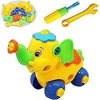 KOWBA 恐竜テイクアパートトイ ツール付き 建設エンジニアリングプレイセット 教育用恐竜玩具 1歳 男の子と女の子用