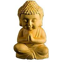 仏像 TheChanger 仏像木彫り 釈迦如来 柘植の木 手作り ミニ型 滑らかな表面 6.8cm