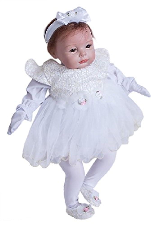 Binglinghuaベビー人形Reborn Lifelike Vinyl新生児女の子ハンドメイドシリコン22