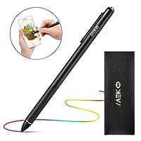 MEKO 極細タッチペン スタイラスペン スマホ タブレット iPad iPhone Android対応 細いペン先2.4mm USB充電式 クリップ付き
