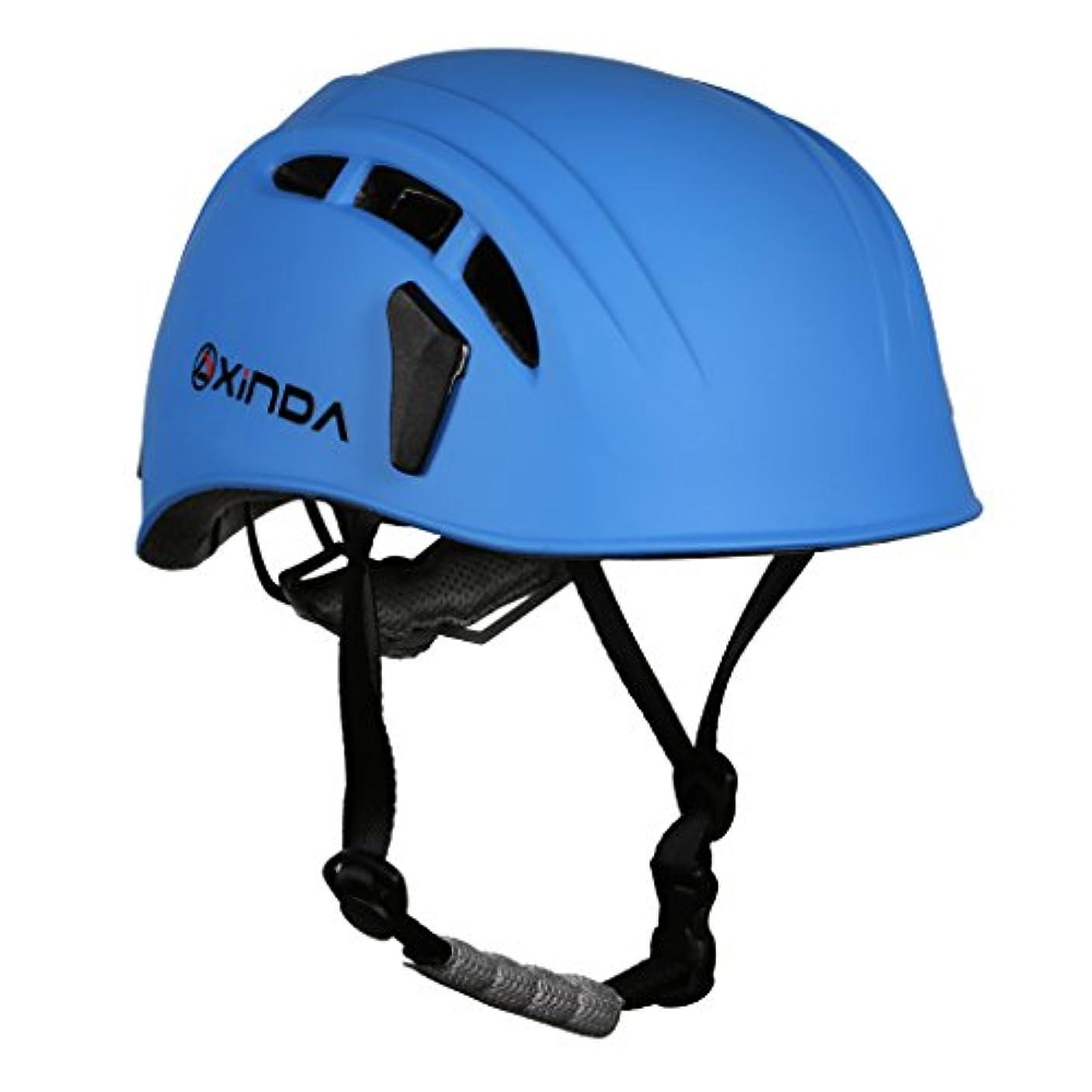 代表困惑蒸し器SunniMix ヘルメット 保護用 通気孔 防護帽 7色選択 登山 クライミング キャンプ アウトドア ハーフドーム 快適 洞窟探検 救援 軽量