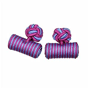 カフスボタン ゴムカフス シリンダー 水色&紫 CF-GUMCYLINDER-S46