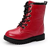 Aiweijia Boy girl Shoes Martin boots Parent-child High help zipper Casual shoes