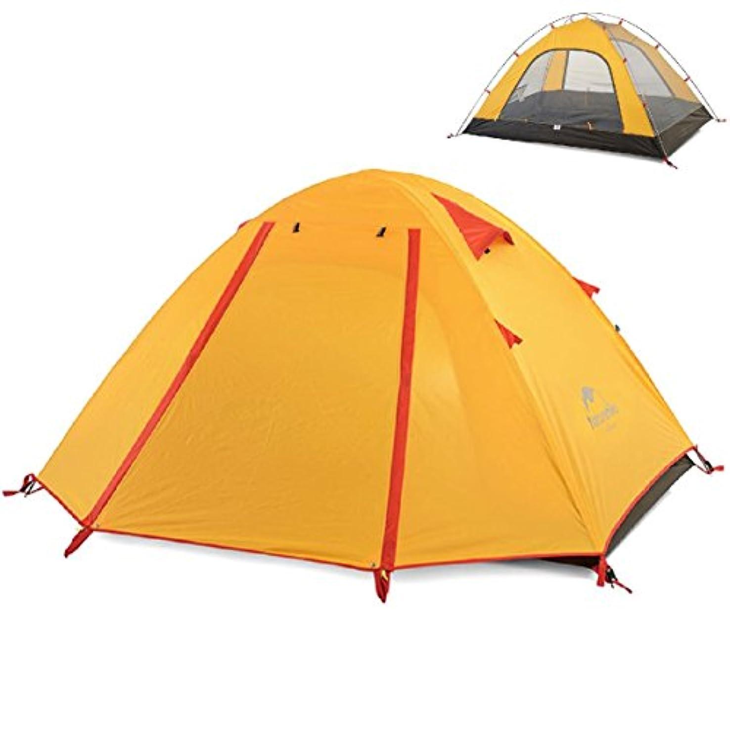 預言者準拠アウトドアTRIWONDER 二重層 テント 2-3-4人用 軽量防水 登山テント 山岳 キャンプ ツーリング用 高通気性 防災 設営簡単 4色選択可能