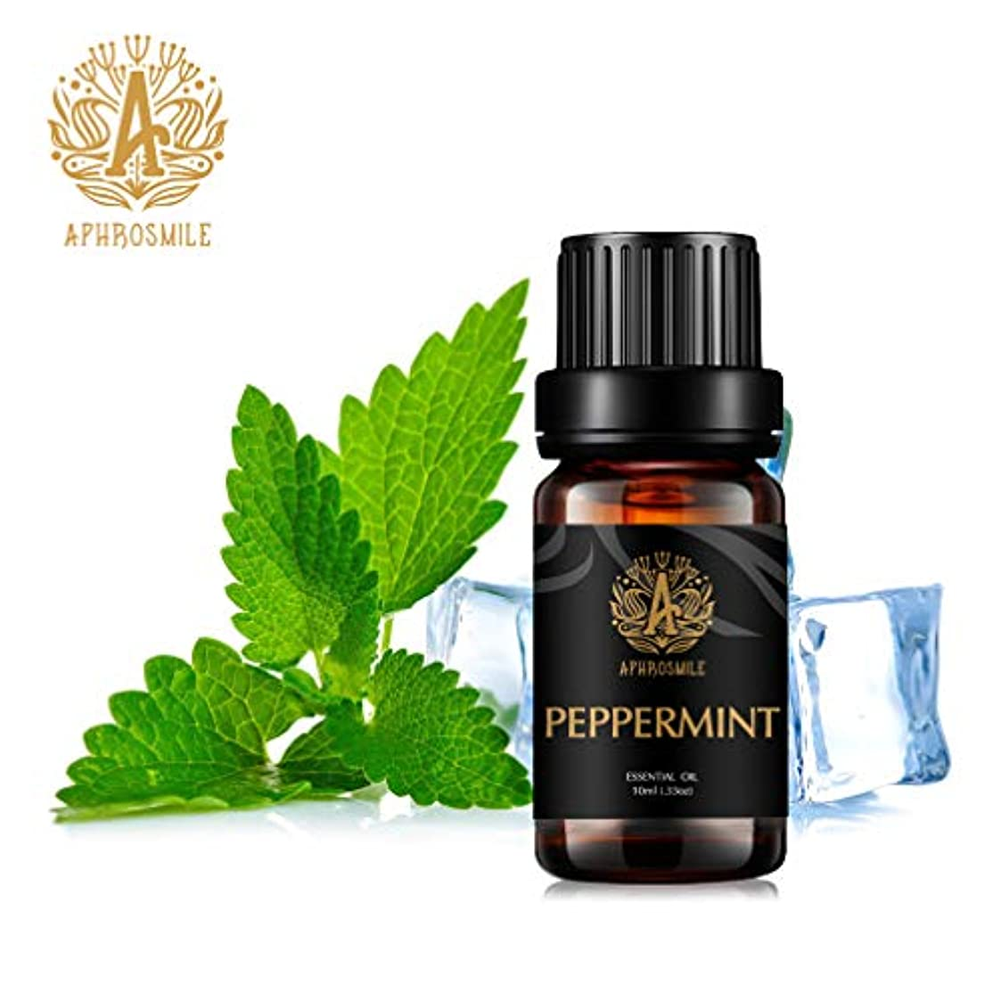 量で有用探すペパーミントの精油、100%純粋なアロマセラピーエッセンシャルオイルペパーミントの香り、明確な思考と、治療用グレードエッセンシャルオイルペパーミントの香り為にディフューザー、マッサージ、加湿器、デイリーケア、0.33オンス-10ml