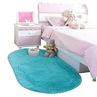 家庭用カーペット 豪華なエリアカーペット、混合素材、ソファベッドに最適、楕円形、4サイズ、6色 写真家庭用カーペットリビング用カーペット (色 : #5, サイズ さいず : 60*160cm/23.6*63.0in)
