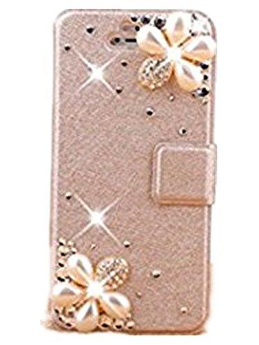 日本未発売人気セット お嬢様 OL様 用 上品 iPhone 6S / 6 / 7 プラス用 ケース PLUS [ スタンド機能 ] 軽量 シルク レザー  可愛い  3D 椿の花 ビジュー付き ウォレット PU レザー 手帳型 ケース Apple アイフォン5G 5S 6s iPhone6 IPHONE7 プラス ケース iPhone 6S / 6 / 7対応 (iPhone6 iPhone6S, 星花)