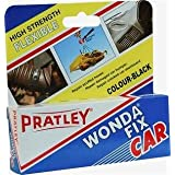 Pratley Rubber Repair - 2 Part Black Epoxy Leather Glue - Adhesive Kit for Couches, Shoe Sole, Boot Heel, Plastic, Car Dashbo