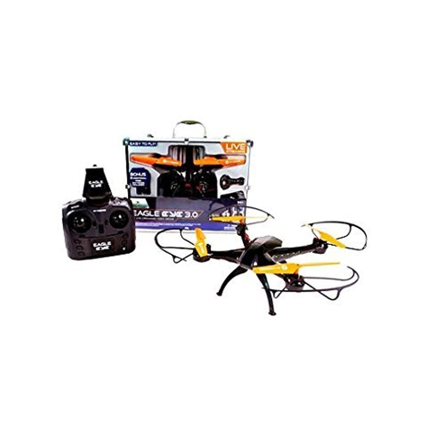 Braha Skydrones Eagle Eye 2.0 - Live Streaming HD Drone in Aluminum Carrying Case with Auto Hover Takeoff and Landing [並行輸入品]