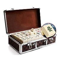 麻雀 友人家族レジャーゲームセット144張のためのハンドラブ麻雀と麻雀ボックスとしてAギフト (Size : 44#)