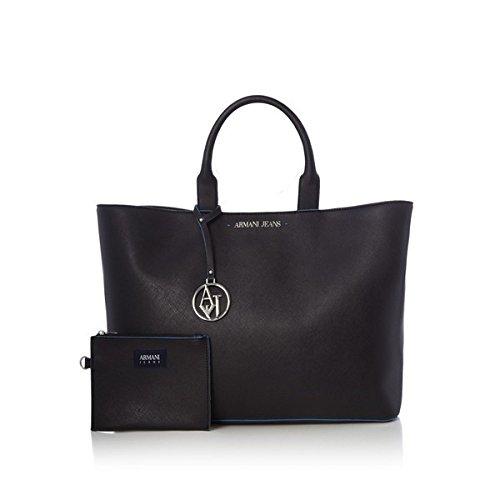 アルマーニジーンズ バッグ トートバッグ Armani Jeans Eco-saff medium tote bag Black [並行輸入品]