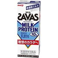 (3ケース)明治 SAVAS ザバス MILK PROTEIN 200ml×24本×3ケース ミルクプロテイン10g