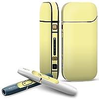 IQOS 2.4 plus 専用スキンシール COMPLETE アイコス 全面セット サイド ボタン デコ その他 シンプル 無地 黄色 008992