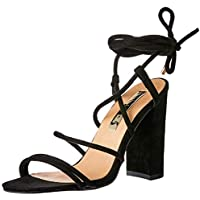 BILLINI Women's Orelia Strappy Block Heel, Black Suede, 5 AU
