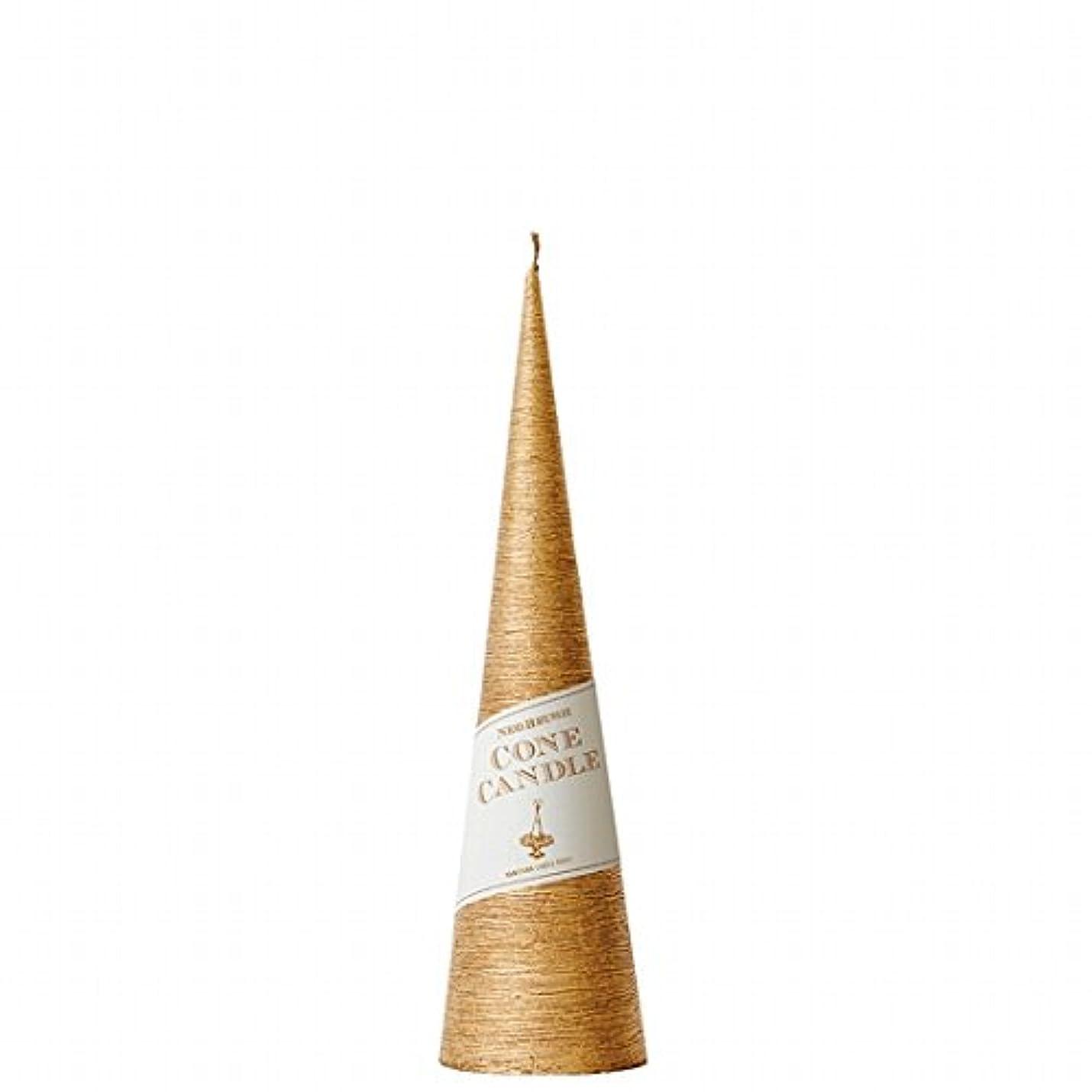 カメヤマキャンドル(kameyama candle) ネオブラッシュコーン 230 キャンドル 「 ゴールド 」 6個セット