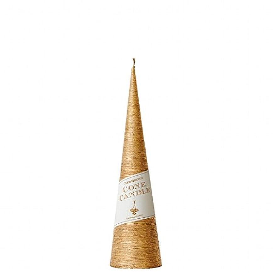 パースブラックボロウ洗剤天のカメヤマキャンドル(kameyama candle) ネオブラッシュコーン 230 キャンドル 「 ゴールド 」 6個セット
